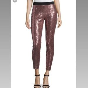NWT Project Runway Pink Sequin Skinny Pants